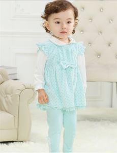 High Quality Kid′s Pure Cotton Suit in Spring pictures & photos