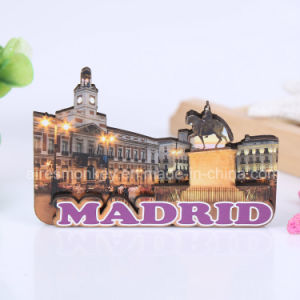 Customized Souvenir Fridge Magnet Made by Wood Material pictures & photos