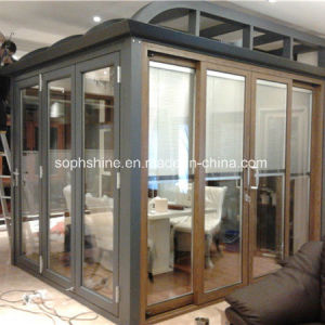 Motorized Alumnium Shutter Between Double Hollow Glass for Shading/Partition pictures & photos