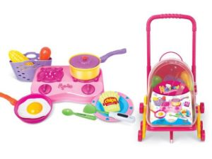 PP Kitchen Play Set Preschool Toy with 42 Pieces pictures & photos