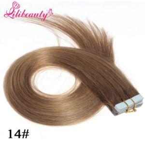2016 Fashion Natural Brazilian Tape Hair Virgin Human Hair Extension pictures & photos