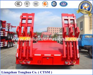Manufacturer 80ton Lowboy/Lowbed/Low Bed Semi Trailer pictures & photos