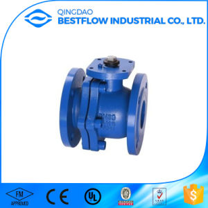 Dn50 Cast Iron Flanged JIS 10k Ball Valve pictures & photos