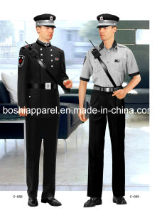 Comfortable and Fashionable Security Uniform for Men of Short Sleeve Sc-07 pictures & photos