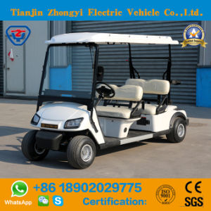 Battery 4 Wheels 4 Seater Golf Cart for Golf Course pictures & photos