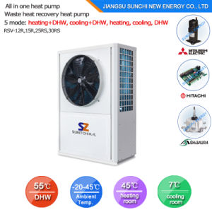 Save 70% Power 2.5kw 150L, 3.5kw 260L, 220V /50Hz Produce 60c Sanitary Hot Water Heat Pump All in One pictures & photos