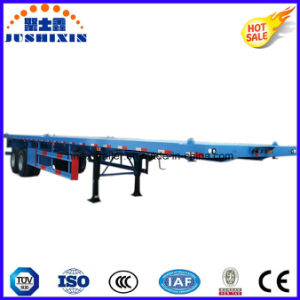 Two Axle Container Flat Trailer for Truck pictures & photos