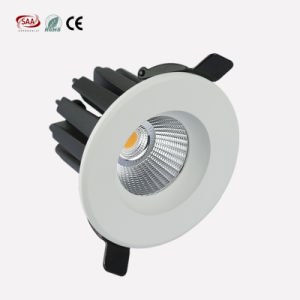 Commercial Lighting LED Lights Rating IP33 Recessed COB Down Light with 12W SCR Dimming pictures & photos