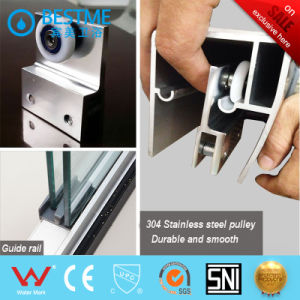 One Fixed One Sliding Aluminum-Alloy Shower Partition (BL-L0037-P) pictures & photos