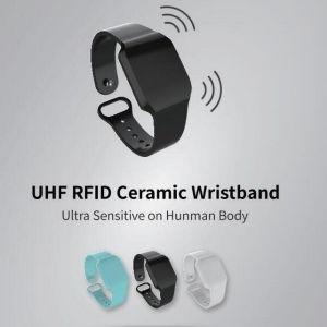 6m on wrist Passive Alien H3 UHF RFID Ceramic Wristband Bracelet pictures & photos