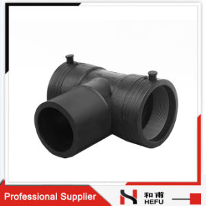 Black 3way Cross Gas Pipe Plumbing Tee Fitting pictures & photos