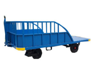 Aircraft Aviation Three Rail Baggage Carts Pallet Trolley pictures & photos