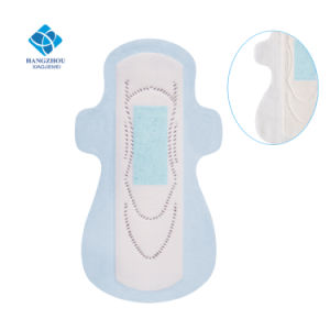 High Quality Biodegradable 100 Cotton Sanitary Napkin with Negative Ion pictures & photos