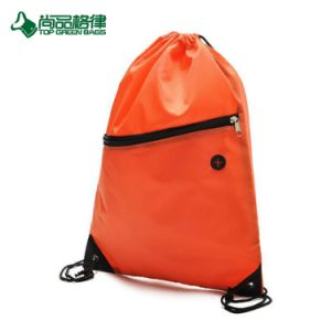 with Front Zipper Pocket Drawstring Backpack Bag pictures & photos
