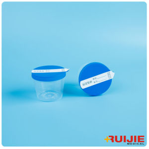 Disposable Plastic 40ml Urine Cup Container with Label pictures & photos