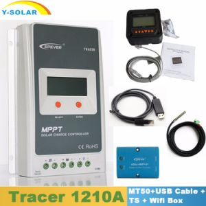 Epever Tracer1210A 10A 12V24V Kit MPPT Solar Controller with Mt50 Display/USB Cable/Temperature Sensor/WiFi Box Including pictures & photos