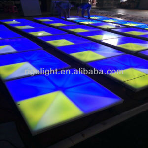 Factory Price 1mx1m Cheap Digital DMX Control RGB Stage Light Acrylic Cover LED Dance Floor pictures & photos