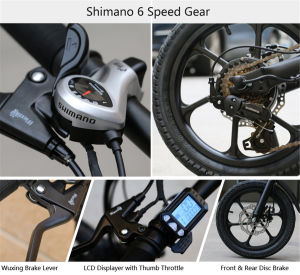 16 Inch Al Alloy Folding Electric Bike with Shimano 6 Speed pictures & photos