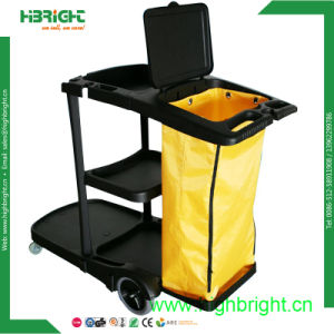 Restaurant Hotel Cleaning Trolley Janitor Cart pictures & photos
