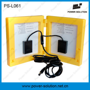 3.4W Solar Panel 4500mAh Rechargeable Lead-Acid LED Solar Lamp Lantern with 2PCS Reading Lights pictures & photos