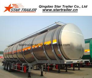 3 Axles 1 Compartment Aluminum Alloy Fuel Tank Trailer pictures & photos