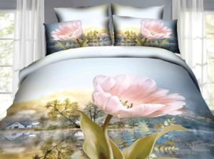 Cheap Cotton 3D Twill Full Queen King Bedding Sets pictures & photos