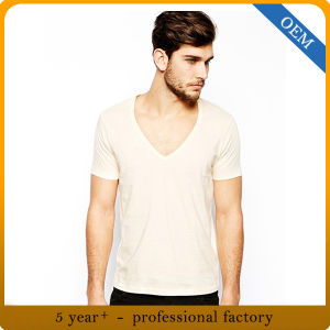 Custom Mens Short Sleeve Yellow T Shirt pictures & photos