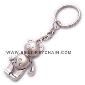 Zinc Alloy Custom Metal Souvenir Paris Bear Keychain (BK53159) pictures & photos