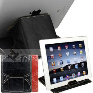 Transformer Genuine Leather Sleeve for Apple iPad 2 With a Stand Function