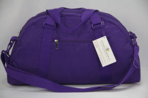 Purple Crinkle Nylon Duffel Bags for Short Trip/Gym pictures & photos