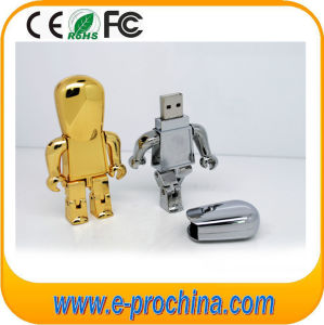 Metal Silvery Robot Shape USB Flash Drive for Phone (EM229) pictures & photos