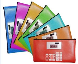 Bank Promotional Gift PU Purse Wallet Calculator pictures & photos