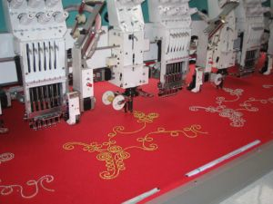 10 Heads Coiling/Tapping/Cording/Beading Mixed Embroidery Machine(Independent