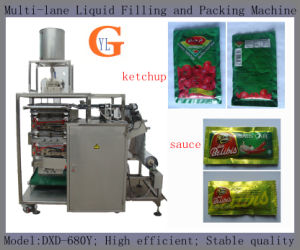 Multi-Lane Condensed Milk/ Cooking Oil Packing Machine (4 sides sealing;) pictures & photos