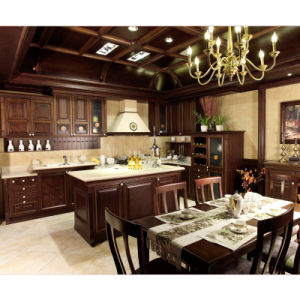 Welbom Luxury & Elegant Classical Slide Wood Kitchen Furniture pictures & photos