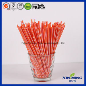 Orange Disposable Plastic Coffee Stirrers, Cocktail Straw Stirrer pictures & photos