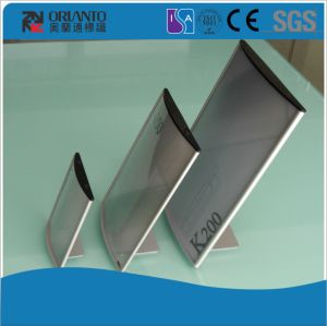 Aluminium End Cap Anodized Silver Table Sign pictures & photos