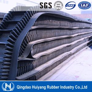 Large Angle Material Handling Sidewall Rubber Conveyor Belt pictures & photos