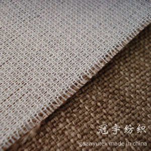 Compound Oxford Linen Fabric with Knitted Backing for Upholstery pictures & photos