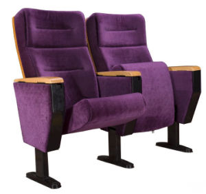 Elegant Velvet Purple Auditorium Chair with Writing Pad (YA-01A) pictures & photos