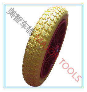 Trolley Wheel Flat Free PU Foam Wheel 13X3.00-8 pictures & photos