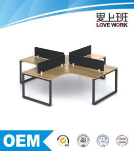Traditional Modular Stainless Steel Leg Office Workstation pictures & photos