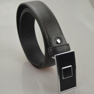 Tailor Smithtop Grain Cowhide Leather Belt Classic Solid Black Strap Belts Luxury Elegant Accessories pictures & photos