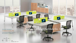 Straight Design Office Cubicle Workstation with Fixed Pedestal (HF-BSA14) pictures & photos