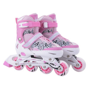Kids Adjustable Inline Skating Shoes with CE Port, High Quality Colorful Skate Shoes Brand
