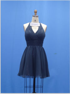 Short A-Line Halter Bridesmaid Prom Dresses Ybd3053 pictures & photos