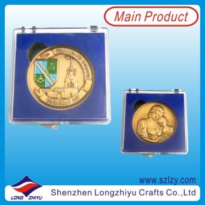 Antique Gold Plated Enamel 3D Souvenir Coin pictures & photos