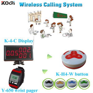 Wireless Calling System Koqi Watch Wrist Y-650 Match with Display and Button pictures & photos