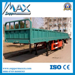 Cheap Price Tri-Axle 40 Ton Cargo Trailer, Side Wall Semi Trailer pictures & photos
