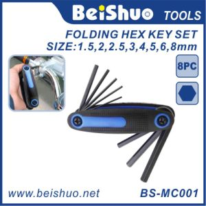 Durable Composite Construction 8-Piece Folding Hex Key Set pictures & photos